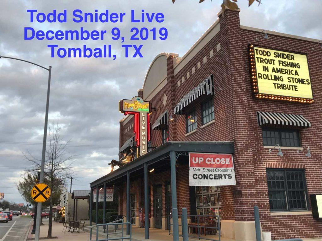 Todd Snider - Tomball, Texax